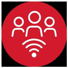 Sala comunitaria con preinstalación de wifi
